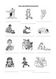 English Worksheets: present continous with pictures