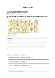 English Worksheet: WHERE IS / ARE ?