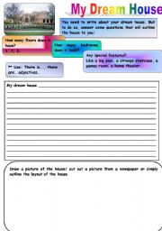 English Worksheet: my dream ouse