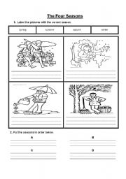 The Four Seasons - ESL worksheet by JewellS