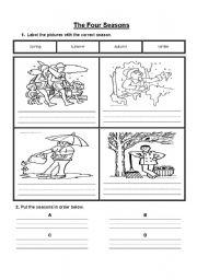 math worksheet : english teaching worksheets four seasons : Seasons Worksheet Kindergarten