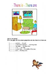 English Worksheets: There �s & there are