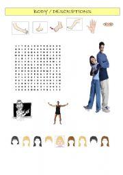 English Worksheets: Body/Descriptions