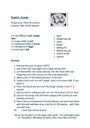 English Worksheet: English Tea Scones