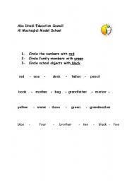 English Worksheets: circling
