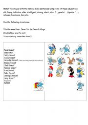 comparatives with smurfs