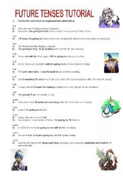 English Future Tense Worksheets