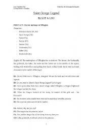 English Worksheet: Saint George�s legend