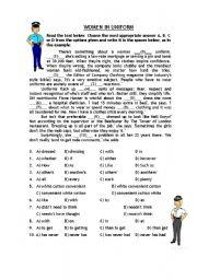 English Worksheets: Women in Uniform