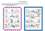 English Worksheets: Daily routine 2