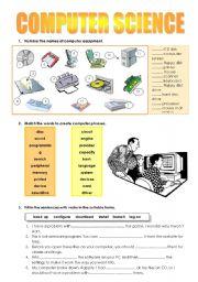 English Worksheet: computer science