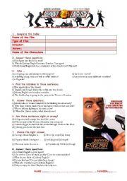 English Worksheets: Johnny English