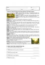 English Worksheet: Countryside Vs City Life