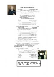 English Worksheet: sting