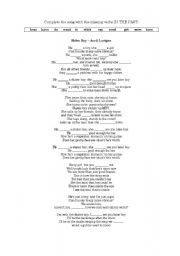 Lyrics for the song girlfriend by avril lavigne