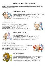 English Worksheet: Adjectives: Character and Personality