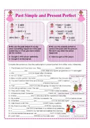 English Worksheet: PAST SIMPLE AND PRESENT PERFECT