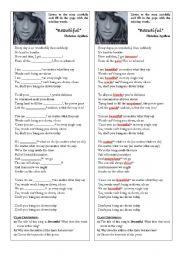 English Worksheets: SONG: Beautiful by Christina Aguilera