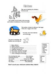 English Worksheets: Chickens