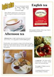 English Worksheet: English culture 5 - English tea