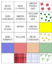 English Worksheets: patterns memory game