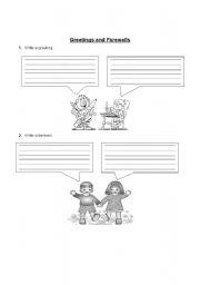 English Worksheets: Greetings and Farewells