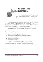 English Worksheets: UP GOES THE SKYSCRAPER