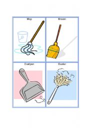English Worksheet: Tools Part 3: Cleaning Tools