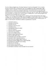 English Worksheets: Hugh Grant