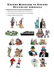 English Worksheet: Stereotypes - US vs UK