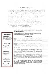 English Worksheets: descriptive writing 2
