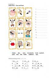 English Worksheets: Body Parts 2