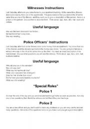 English Worksheets: Describe a Suspect to the Police