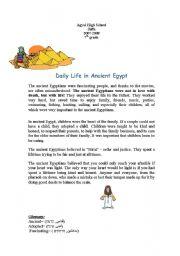 English Worksheets: ancient egypt_corrected