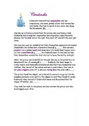 picture about Cinderella Story Printable identified as Cinderella worksheets