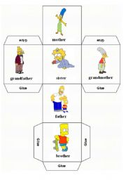English Worksheets: Family dice