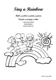 English teaching worksheets: The rainbow