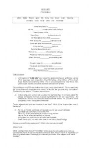 English Worksheets: FRIENDSHIP (IN MY LIFE by The Beatles)