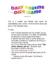 Daily Routine - Dice Game - Part 4