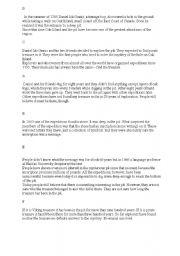 English Worksheets: The treasure