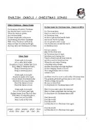 English Worksheets: collection of the most traditional and catchy Christmas Songs