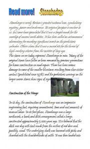English Worksheets: stonehedge