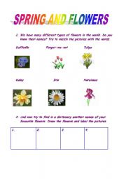 Spring and names of the flowers esl worksheet by gosia0108 english worksheet spring and names of the flowers mightylinksfo