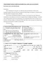 English Worksheets: Kento�s letter