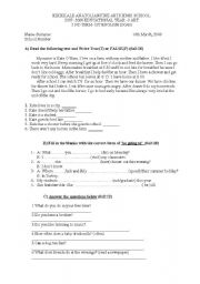 English teaching worksheets: 9th grade