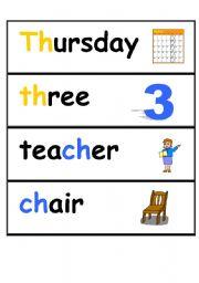 English worksheet: phonic flashcards