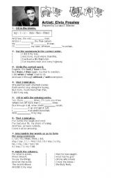 English Worksheets: My Way - Elvis Presley