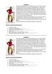 English Worksheet: Cowboys