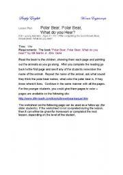English Worksheet: Polar Bear, Polar Bear, what do you hear by Bill Martin Jr./Eric Carle