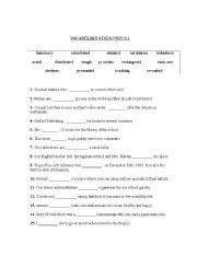 Worksheet 8th Grade Vocabulary Worksheets english teaching worksheets general vocabulary worksheet 8th grades
